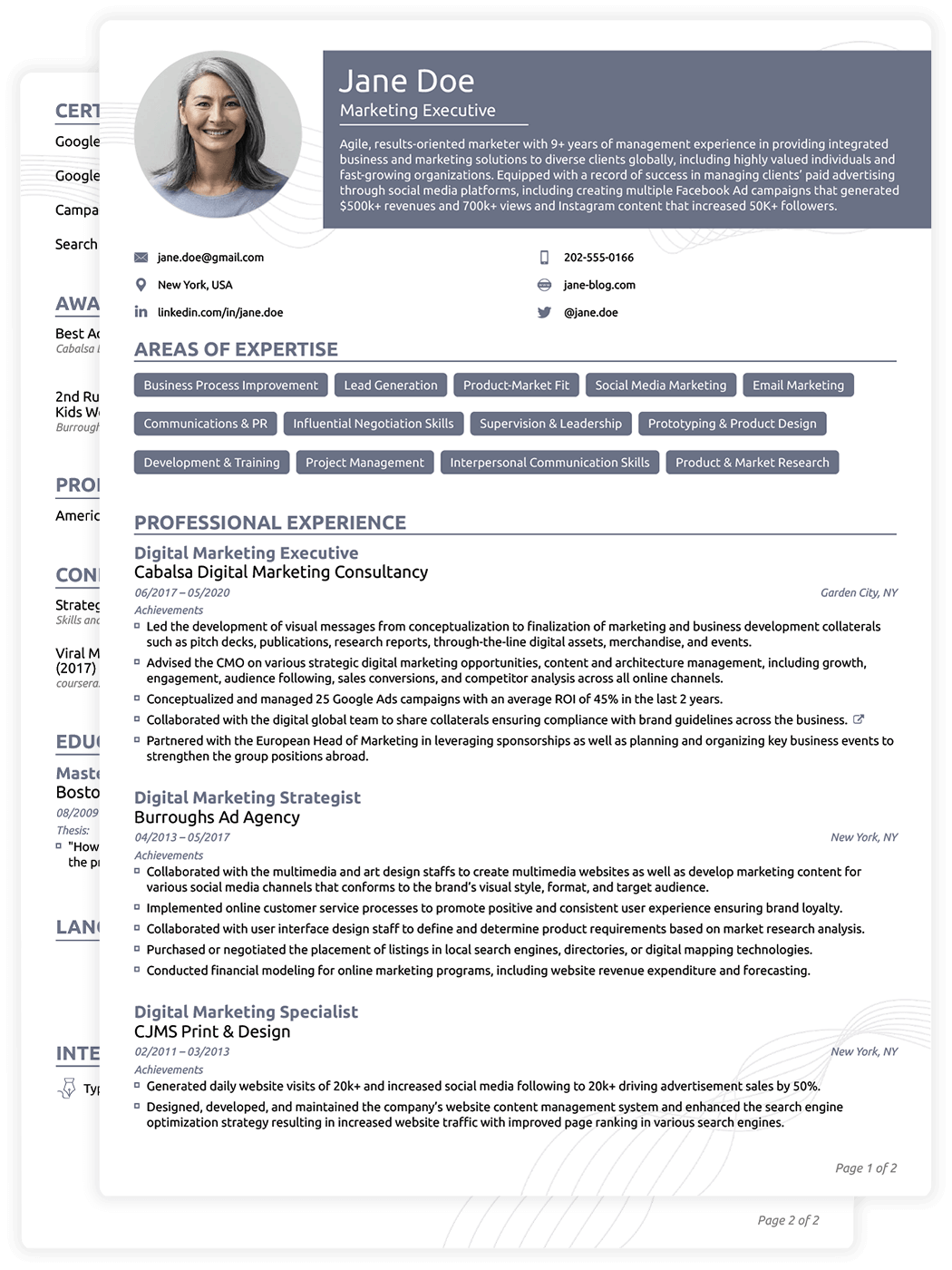 best cv format pdf download