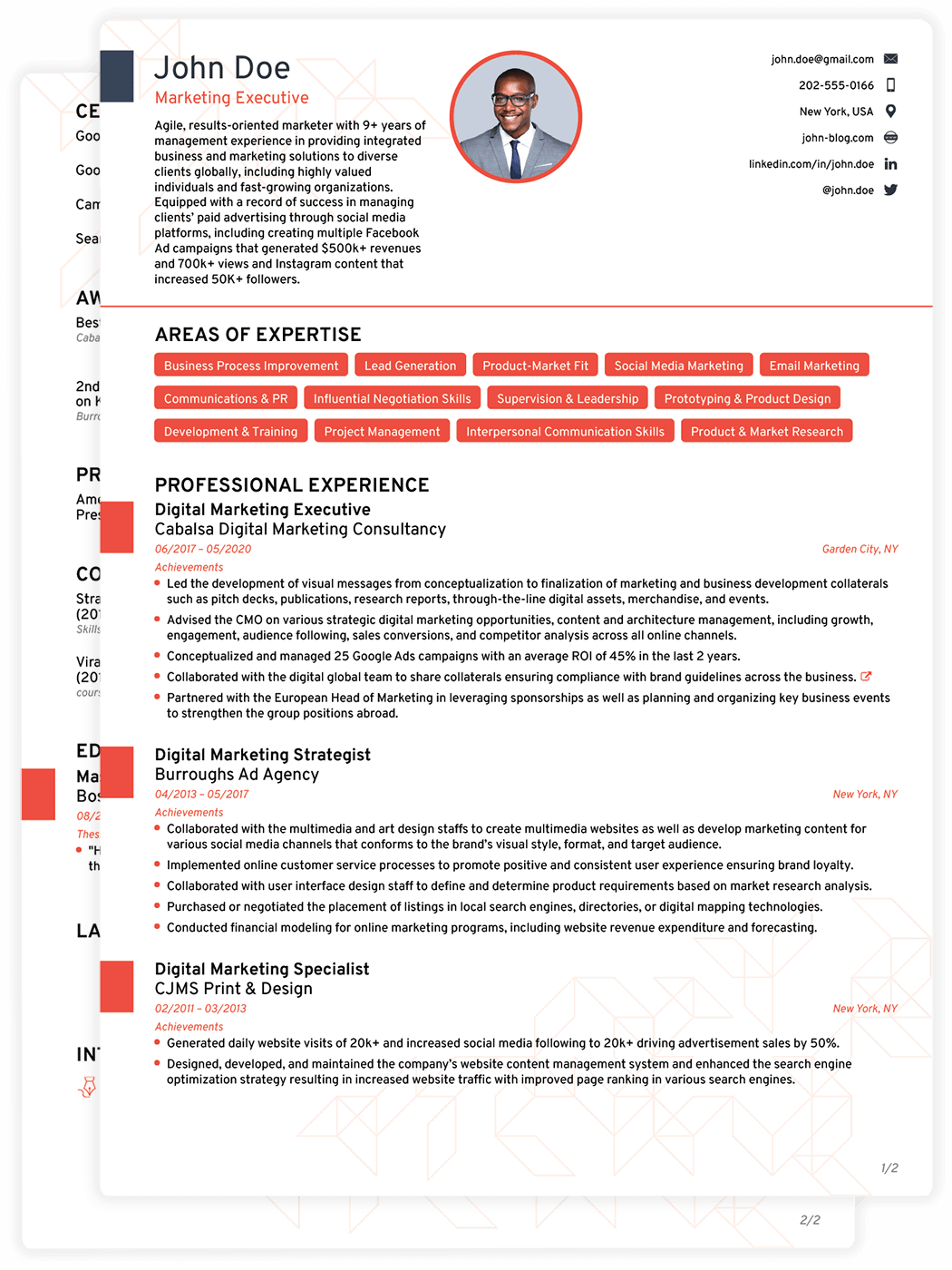 College Resume Template Doc