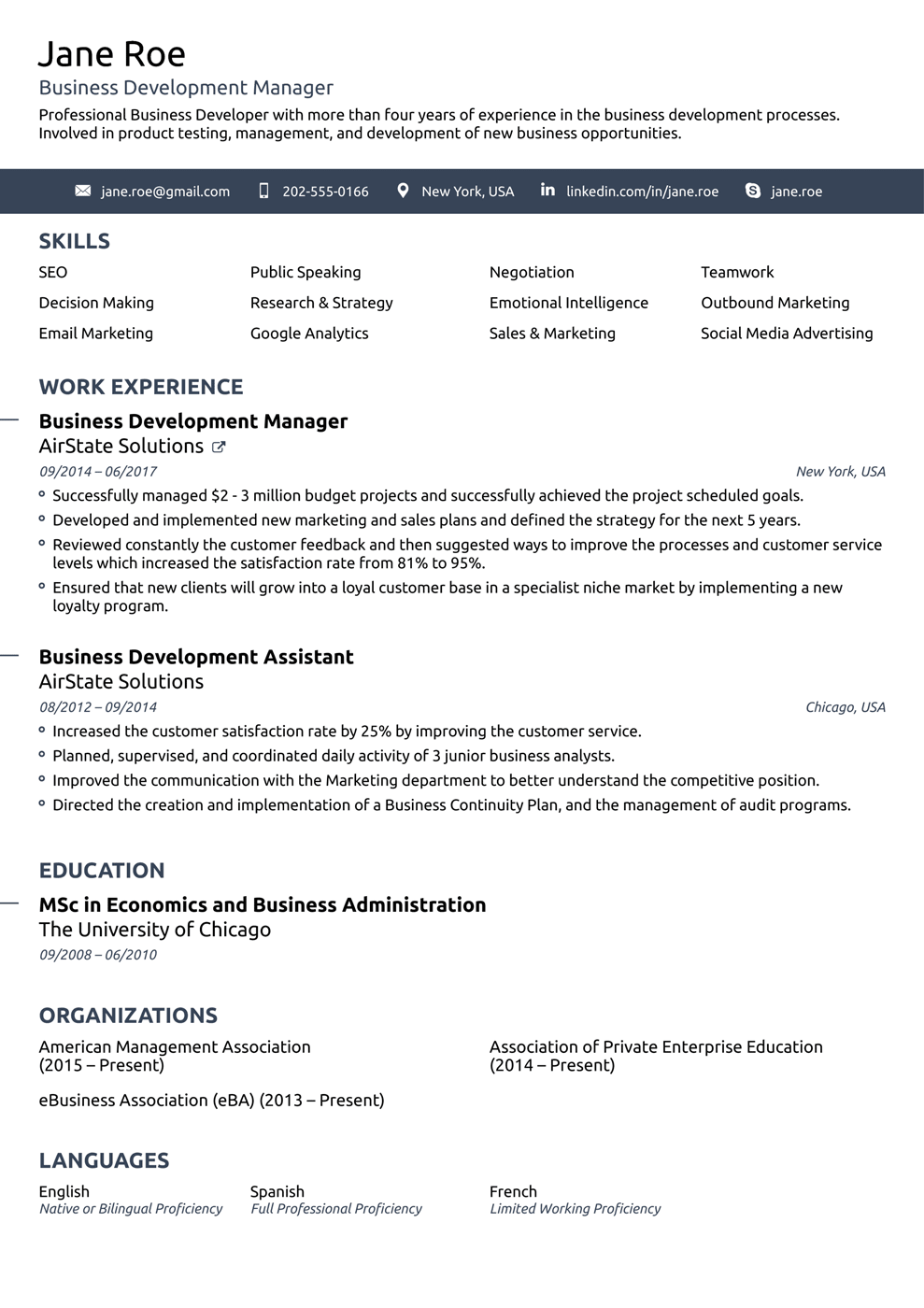 8  best online resume templates of 2018  download  u0026 customize