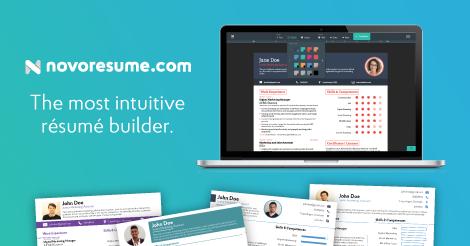 Free Standard Online Resume Builder Resume Builder Novoresume