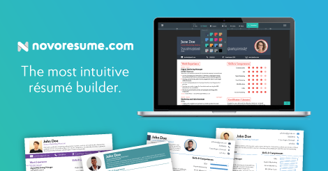 Novorésumé 2018  Free Professional Resume Builder