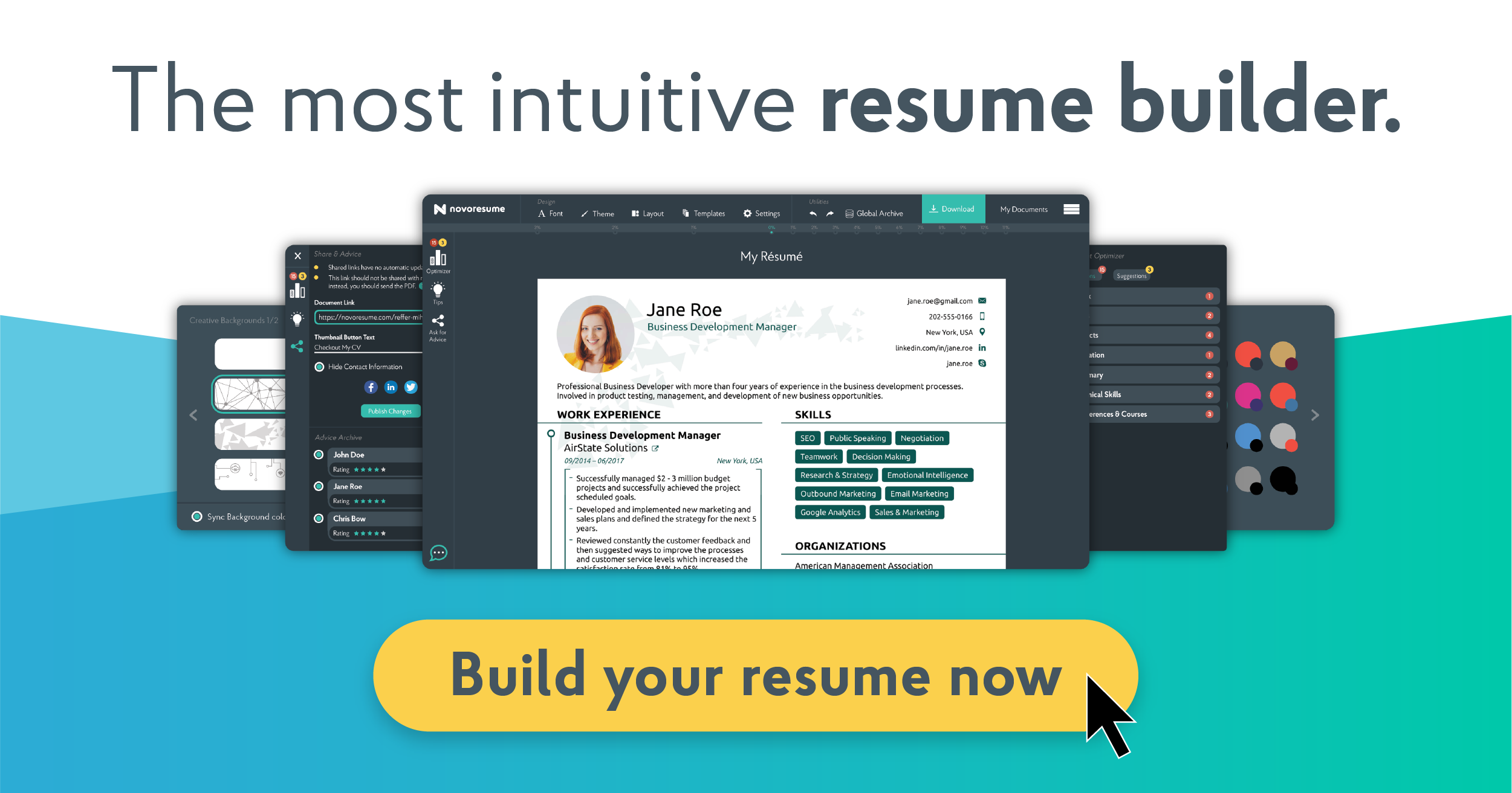 Resume Builder For 2020 Free Resume Builder Novoresume